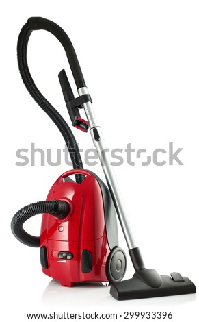 New Vacuum Cleaner isolated on a white background - stock photo