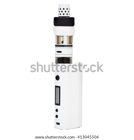 New vaping device - vaporizer or electronic cigarette for smoking liquid nicotine. isolate over white background.