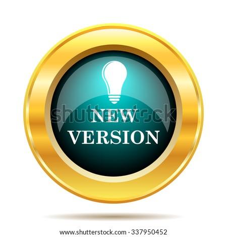 New version icon. Internet button on white background.  - stock photo