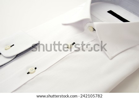 New white shirt for businessman - stock photo