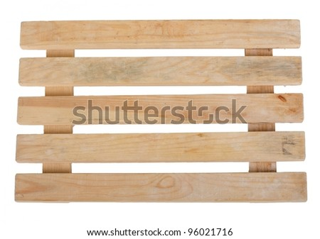 New wooden warehouse pallet  - front view - stock photo