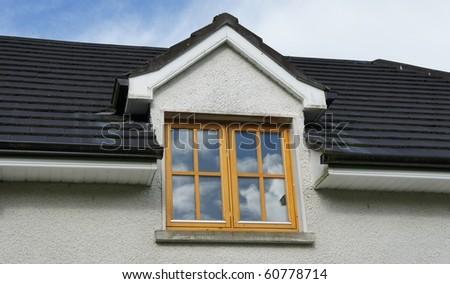 New Wooden window - stock photo