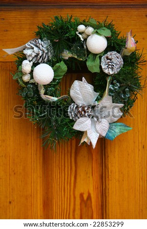 New wreath on the door