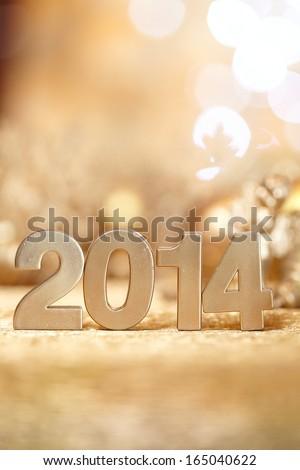 New 2014 year - stock photo