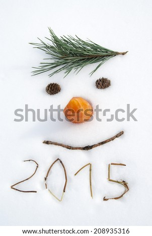 new year 2015 - stock photo