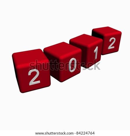 New year 2012 - stock photo