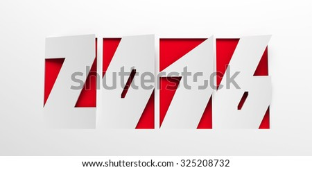 new year 2016 are coming - stock photo