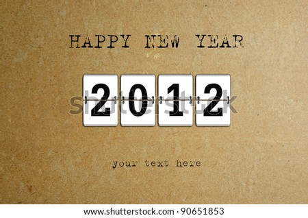 New Year arrival 2012 - stock photo