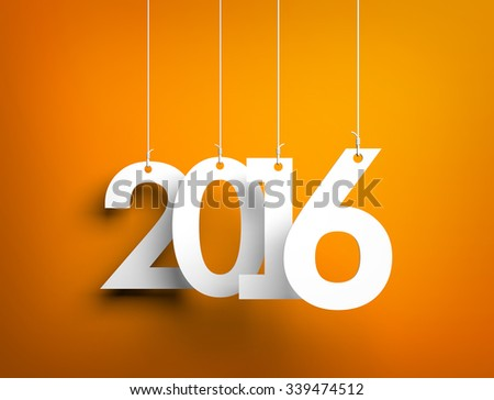 New year - 2016 - background - stock photo