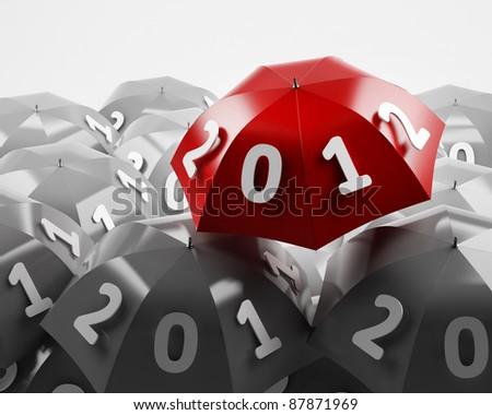 New 2012 year background - stock photo