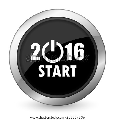 new year 2016 black icon new years symbol  - stock photo
