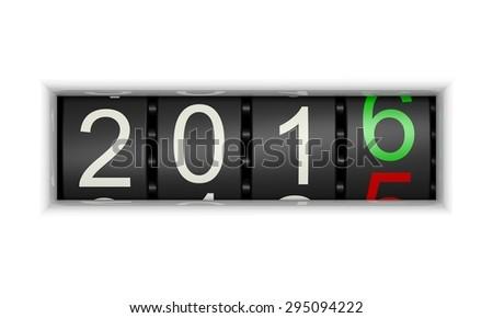 New Year 2016 c - stock photo