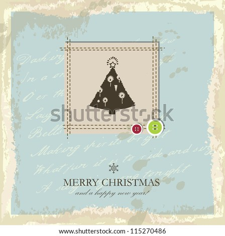New year card - stock photo