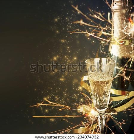New Year Card Design  - stock photo