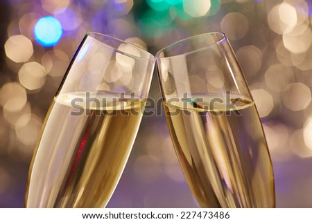 New Year champagne christmas romantic