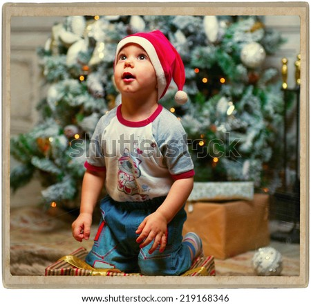new year child portrait - stock photo