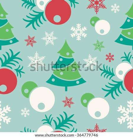 New Year Christmas seamless colorful background. Seamless repeating pattern. - stock photo
