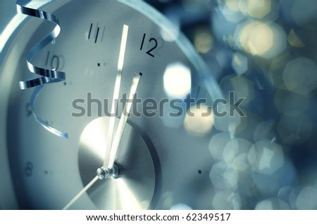 new year clock acid version - stock photo