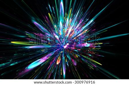 New Year colorful celebration fireworks - stock photo