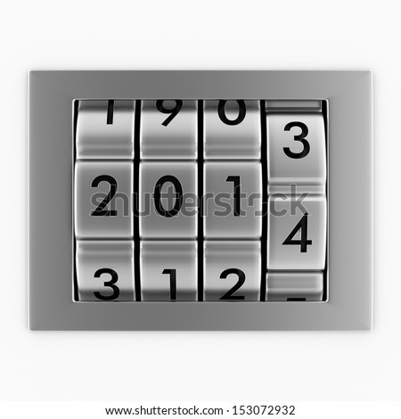 New Year 2014 concept - stock photo