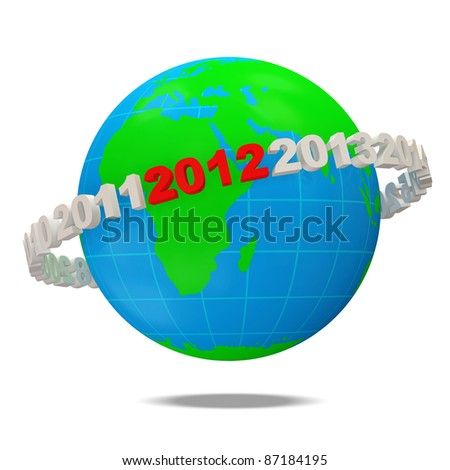New Year 2012 Concept - stock photo