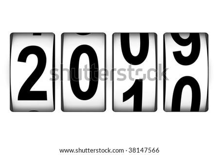 New Year counter - stock photo