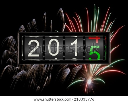 New Year 2015 d - stock photo