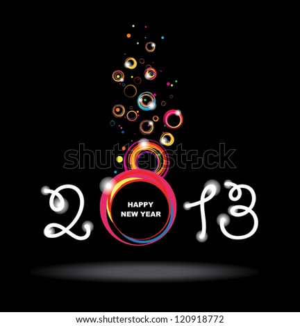 New year 2013 design. Abstract poster. Raster version - stock photo