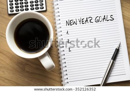 New Year Goals - stock photo
