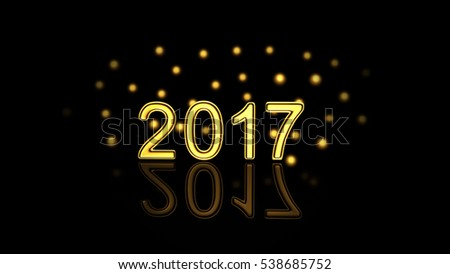 New Year gold Background. 3D rendering