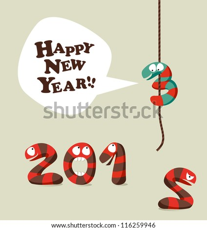 New 2013 year greeting card background.