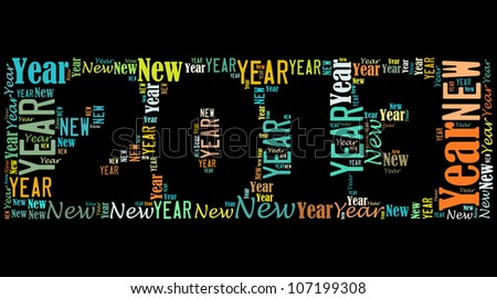 New year 2013 info-text graphics arrangement on black background