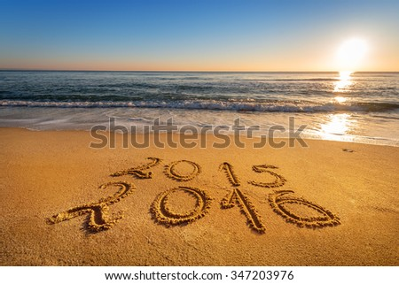 New Year 2016 is coming concept.  - stock photo