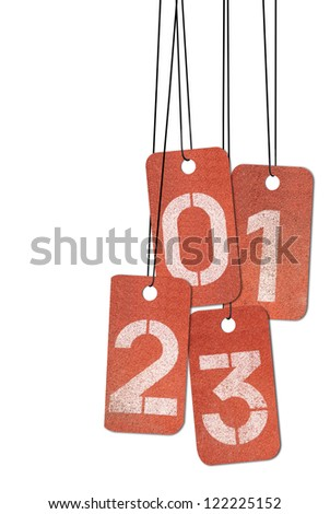 New 2013 year , lucky 2013, happy new year. - stock photo