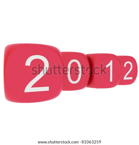 New Year 2012 on white background
