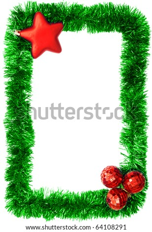 new year postcard, xmas card - stock photo