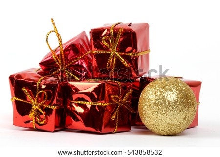 New year red gift packages
