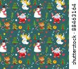 New Year's background, Christmas seamless wallpaper pattern. Bitmap copy my vector ID 88124986 - stock vector