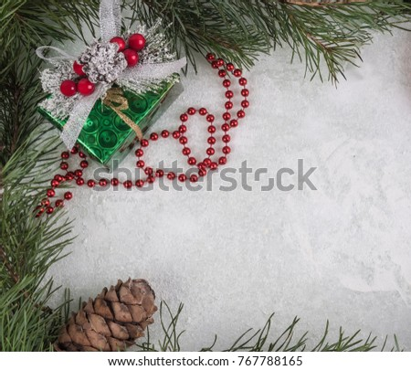 New Years Background Fir Branches Form Stock Photo (Royalty Free ...