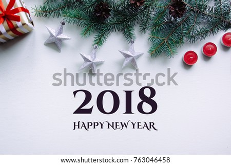 New Years Background On Red Desk Stock Photo Edit Now 763046458