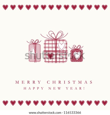 New year's card - stock photo