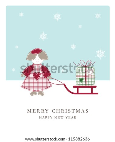 New year's card with copy space - stock photo