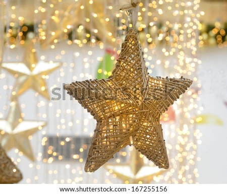 new year's decoration at shopping mall - stock photo