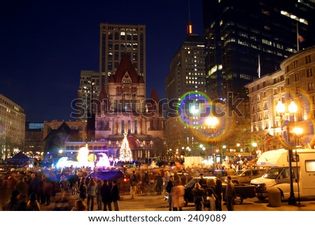 New year's Eve parade in Boston, USA