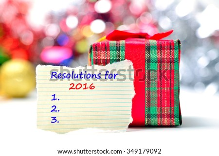 New Year's  Resolution Text on the background - stock photo