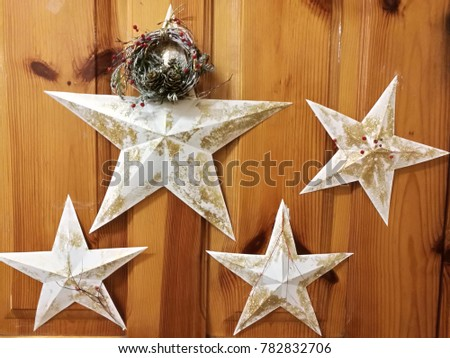 New Year's stars festive decoration