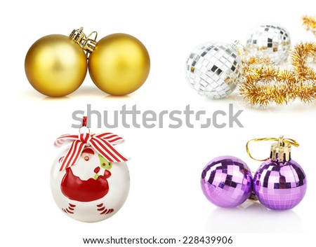 New Year's toys - stock photo