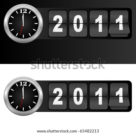 New Year 2011 Sign - stock photo