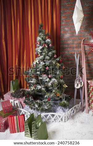 New year tree - stock photo