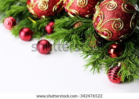 New Year tree toy ball background